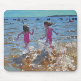 Splashing in the sea Clacton. 2014 Mouse Pad