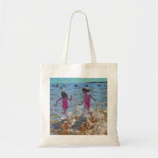 Splashing in the sea Clacton. 2014 Tote Bag
