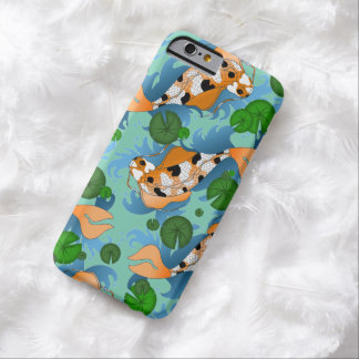 Splashing Koi Fish and Pond Lilies Custom Barely There iPhone 6 Case