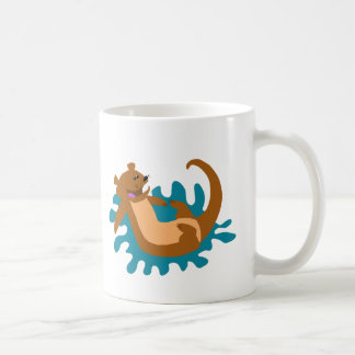 Splashing Otter Coffee Mug