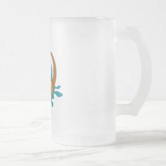 Splashing Otter Frosted Glass Beer Mug