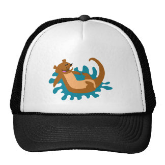 Splashing Otter Mesh Hats