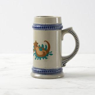 Splashing Otter Mug