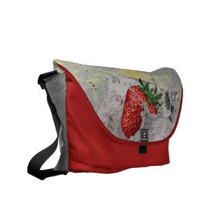 Splashing Strawberry Courier Bag