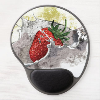 Splashing Strawberry Gel Mouse Pad