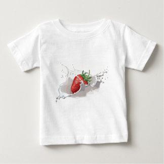 Splashing STRAWBERRY MILK - WOWCOCO Baby T-Shirt