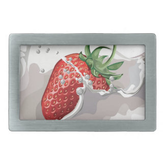 Splashing STRAWBERRY MILK - WOWCOCO Rectangular Belt Buckle