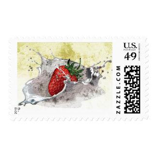 Splashing Strawberry Postage