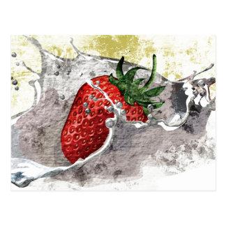 Splashing Strawberry Postcard