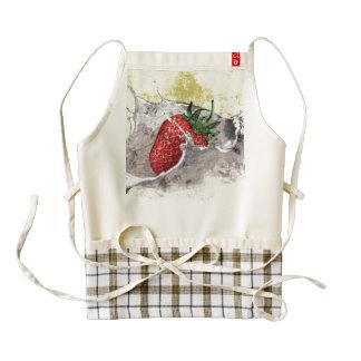 Splashing Strawberry Zazzle HEART Apron