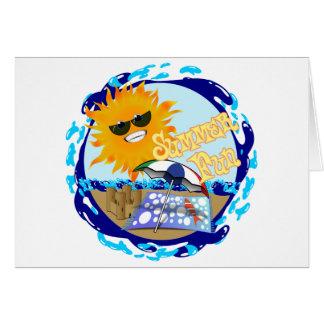 Splashing Summer Fun at the Beach Greeting Card