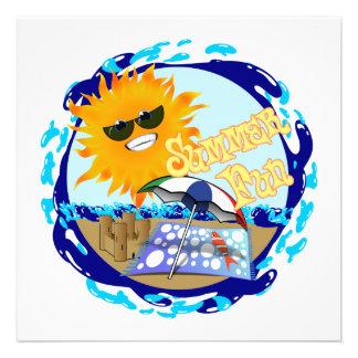 Splashing Summer Fun at the Beach Personalized Invitation