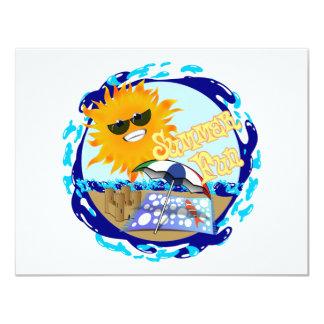 Splashing Summer Fun at the Beach 4.25x5.5 Paper Invitation Card