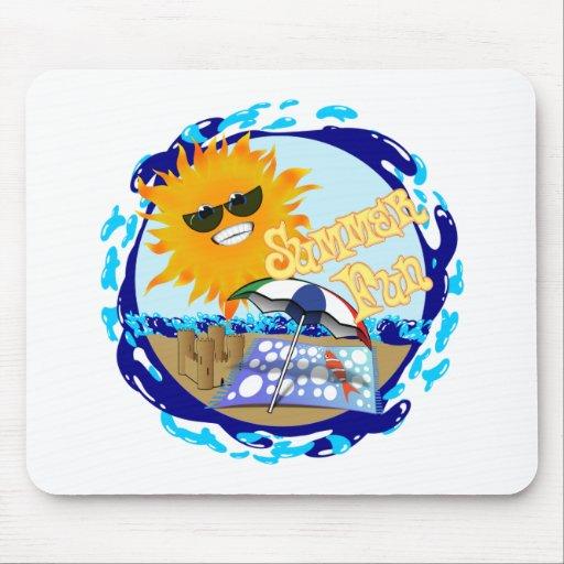 Splashing Summer Fun at the Beach Mousepad