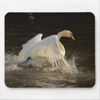 Splashing Swan Mouse Pad