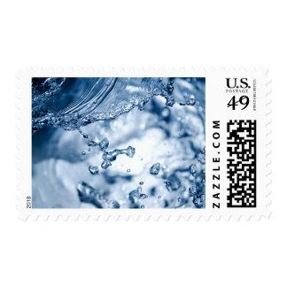 Splashing Water Aqua Rain Splash Stamp