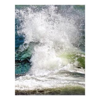 Splashing water in the sea flyer