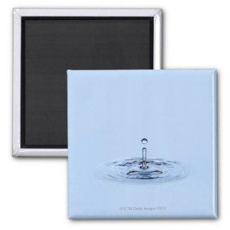 Splashing waterdrop (droplet) falling into water 2 inch square magnet
