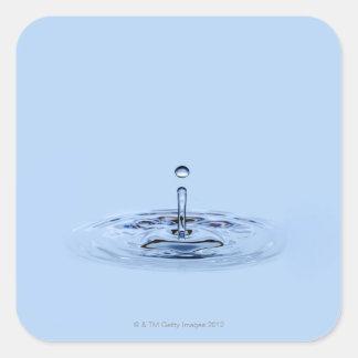 Splashing waterdrop (droplet) falling into water square sticker