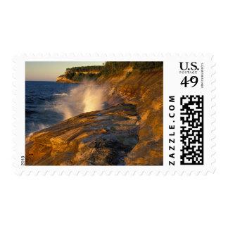 Splashing Wave on Gerlach's Point; Pictured Postage