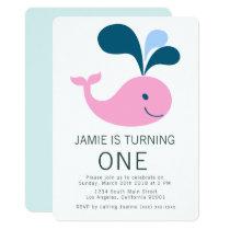Splashing Whale Birthday Invitation