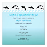 "Splash'n Orcas Baby Shower or Birthday Invitation 5.25"" Square Invitation Card"