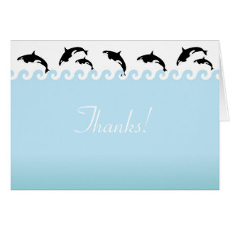 Splash'n Orcas Thank You Note Card