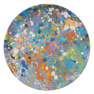 Splashy Abstract Plate