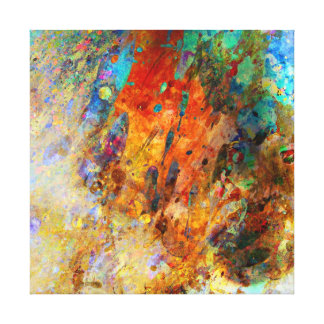 Splashy Colors. Stretched Canvas Prints