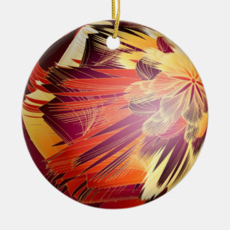 Splashy Colours Double-Sided Ceramic Round Christmas Ornament