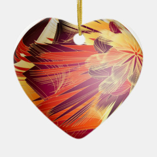 Splashy Colours Double-Sided Heart Ceramic Christmas Ornament