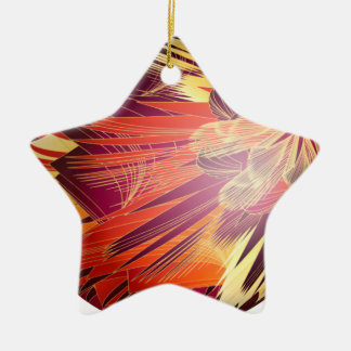 Splashy Colours Double-Sided Star Ceramic Christmas Ornament
