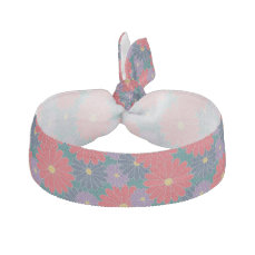 Splashy Fall Floral Hair Tie