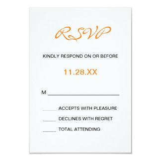 Splashy Monogram Wedding RSVP Card