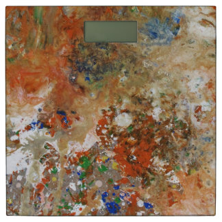Splashy Paint Abstract Bathroom Scale