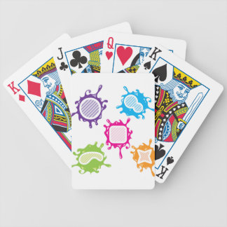 Splashy shapes vector bicycle playing cards