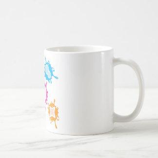 Splashy shapes vector coffee mug