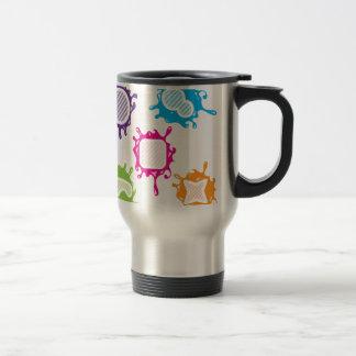 Splashy shapes vector travel mug