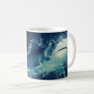 Splashy Shark Coffee Mug