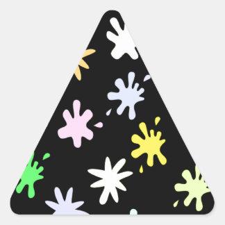 Splat Attack Triangle Sticker