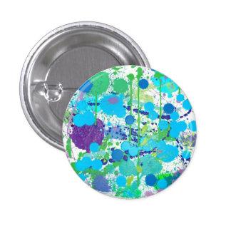 Splat Blue 1 Inch Round Button
