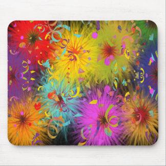 Splat borroso colorido y confeti tapete de raton