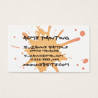 Splat Card-Orange Business Card