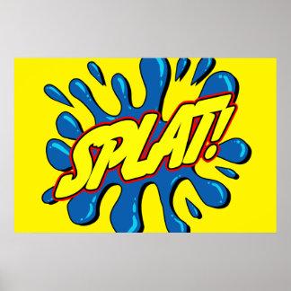 Splat - Comic Sign / Poster