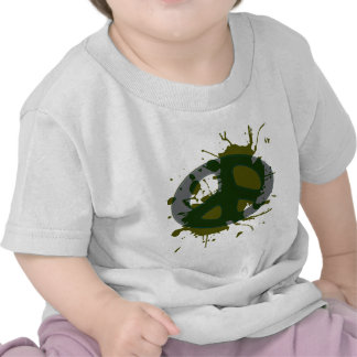 splat de la insignia de la paz camisetas