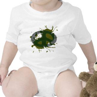 splat de la insignia de la paz traje de bebé