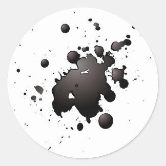 splat de la tinta 3d pegatina redonda