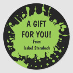 Splat Gift Sticker
