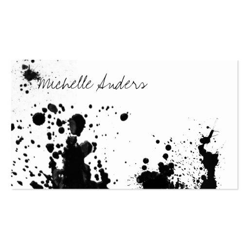 Black Ink Splatter Template Ink splatter card for creative