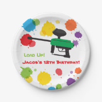Splat Paintball Kids Birthday Party Paper Plates